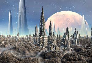 космический город в Оренбург купить фотообои