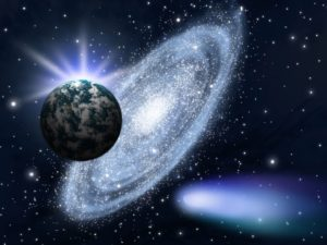 фотообои Оренбург космос земля и комета