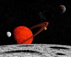 Купить фотообои луна Оренбург сатурн цена