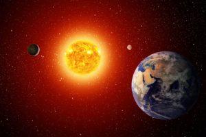 Солнце и земля фотообои купить Оренбург