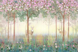 фотообои Оренбург лес розовый