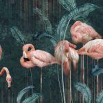 фотообои в Оренбурге темные фламинго